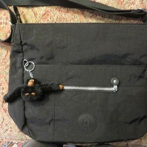 Kipling black large crossbody bag, nwot